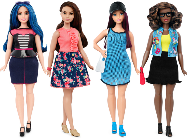 Barbie now curvy, tall and petite