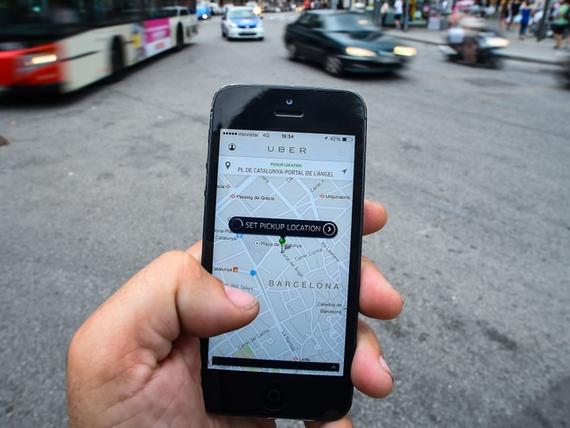scheduling a ride with uber