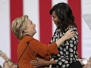 First Lady Obama shows support for Clinton