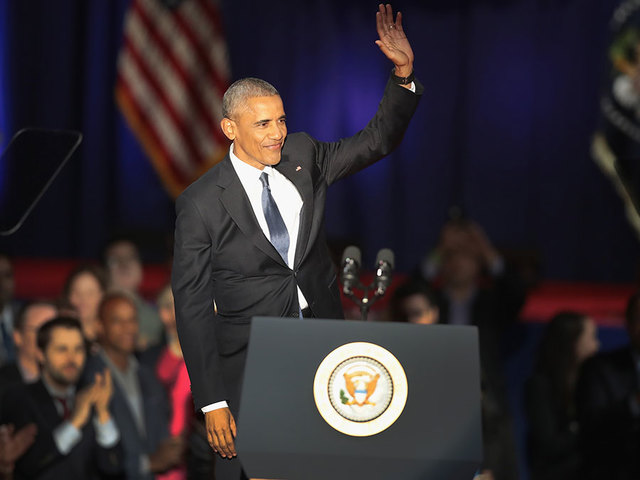Obama makes first post-presidential public appearance in Chicago