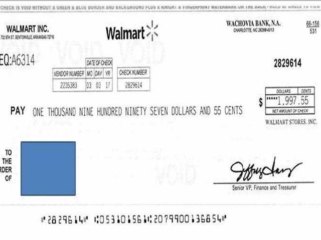 Fake Walmart Checks Being Mailed To Residents In Missouri