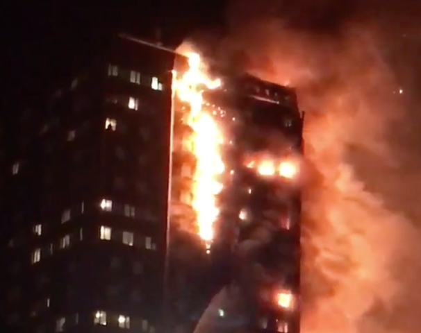 A massive high rise fire in London has killed 6 people