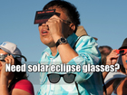 Solar eclipse glasses free at some libraries