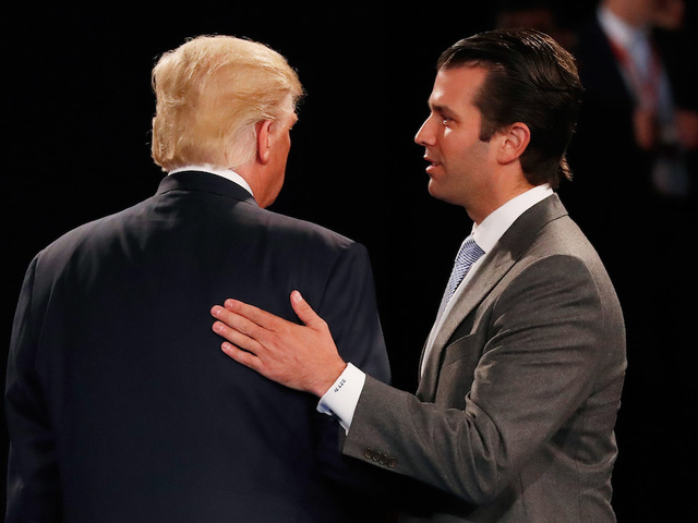 Trump's son says met Russian lawyer for damaging information on Clinton