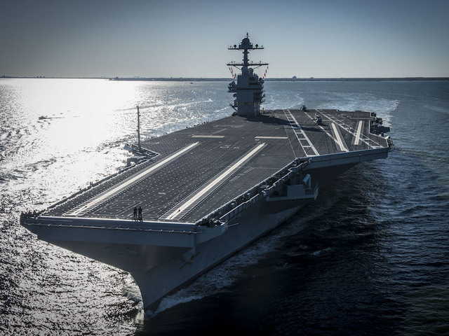 Trump says military 'bigger, better, stronger' at USS Gerald R. Ford commissioning