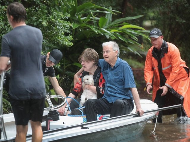 Nursing home residents rescued from waist-deep flood water