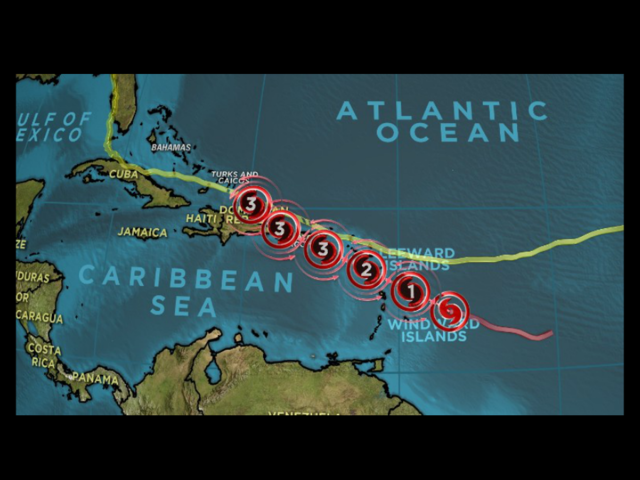 Maria intensifies into Category 4 hurricane as it approaches Caribbean