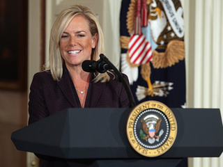 Protesters heckle Homeland Security director