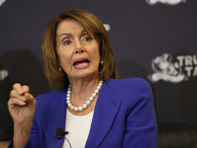 Rep. Nancy Pelosi Stages Hours-Long Speech About House Spending Bill
