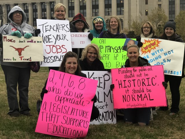 Live coverage of today's Oklahoma teacher walkout