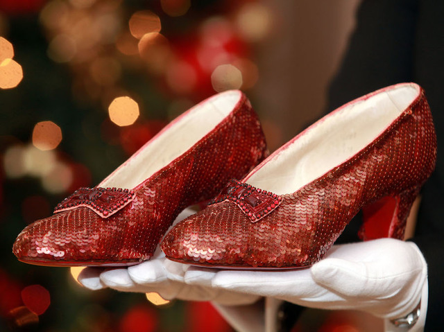 13 years after they were stolen dorothy s ruby slippers have been