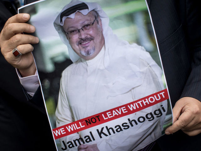 Jamal khashoggi turkey claims to have evidence that journalist was istanbul turkey october 08 a man holds a poster of saudi journalist jamal khashoggi during a protest organized by members of the turkish arabic media m4hsunfo